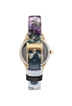 TED BAKER Ted Baker Ladies - Floral Printed Leather Strap - Gold Tone Case  (10031555) S  298.00. Sizes One Size a2bffa521