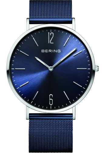 Bering blue and silver Bering Classic Blue 41 mm Men's Watch (14241-307) 657B3ACCBB27F7GS_1