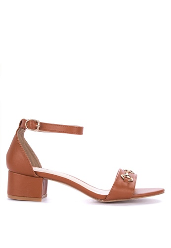 S&H brown Lucia Heeled Sandals 98A40SH779EF38GS_1