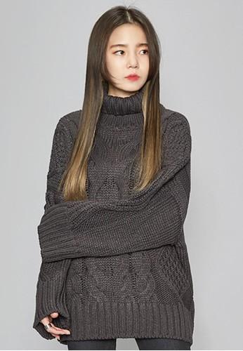 微大碼高領esprit台北門市針織上衣, 服飾, 毛衣& 針織外套