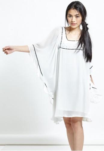 雪紡寬袖洋裝, 服飾, esprit outlet 高雄及膝洋裝