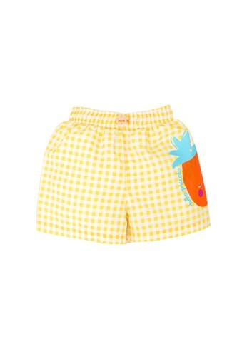 Tutto Piccolo yellow Yellow Pineapple Beach Short 209A3KAA785F39GS_1