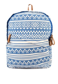 Backpack With Diagonal Zipper