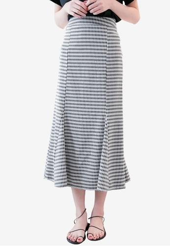 Tokichoi black Textured Pleated Hem Skirt 8C525AA81CF3B6GS_1