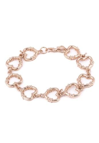 Jewelplace gold Heart Plated Bracelet JE882AC59KIYPH_1