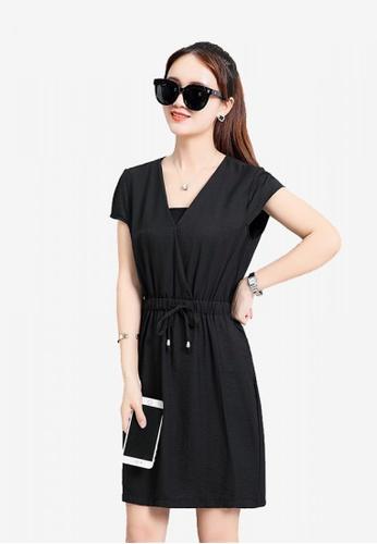 Lara black One piece Dress for women B8295AA080B804GS_1