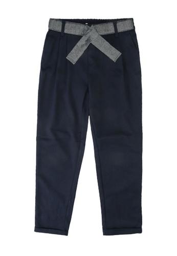ONLY navy Rita Loose Sparkle Tie Pants 9295BKAF1BB829GS_1