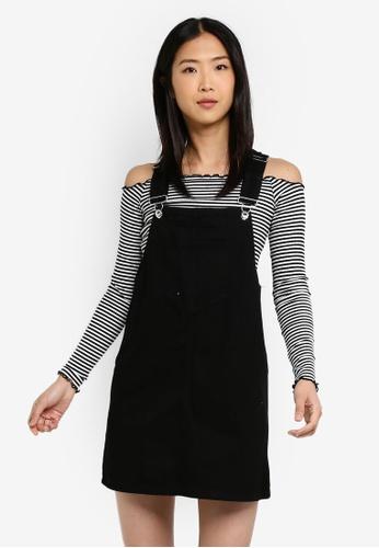 Factorie black Classic Denim Overall Dress 34CC9AA8EEA633GS_1