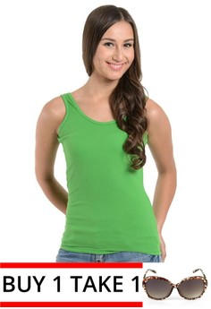 Colored Carrots Sleeveless Tank Top Green -buy 1 take 1