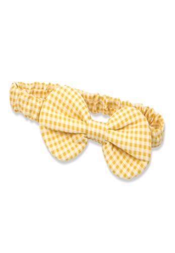 Organic mom yellow Organic Cotton Donna Check Headband A14D9KC86559D3GS_1