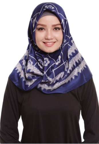 Mybamus Ziggy Square Hijab Satin Navy