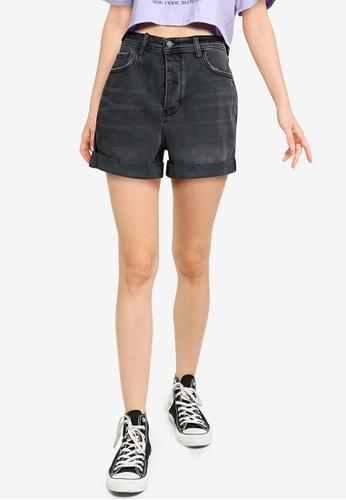 Hollister black Ultra High Rise Mom Denim Shorts 04D8AAAC93B4F2GS_1