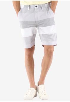 4ef28b4a Lee grey Men Urban Riders Stripes Shorts 3ED9DAA262FA34GS_1