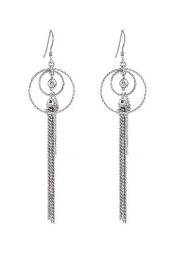 Carlton London silver Plain Tassel Earrings E22C4AC519C46DGS_1