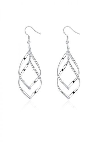 Glamorousky silver Fashion Banana Leaf Earrings 493E9AC47E72E8GS_1