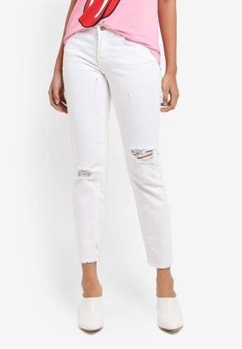 ONLY white Sui Slim Jeans 6CB91AAC3DA7A2GS_1