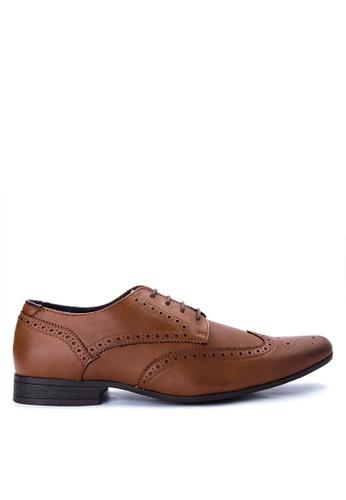 Burton Menswear London brown Tan Formal Brogue Shoes BU102SH0ITFVPH_1