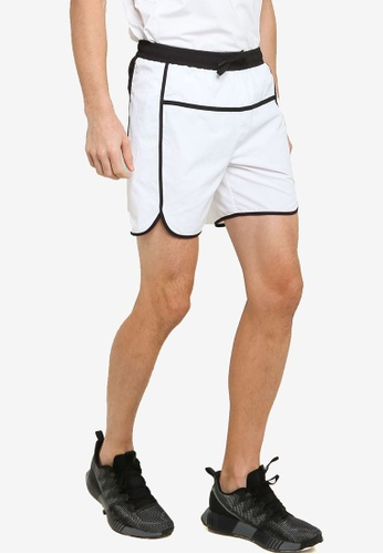 ZALORA ACTIVE white Contrast Binding Running Shorts 64EB3AAC88385CGS_1