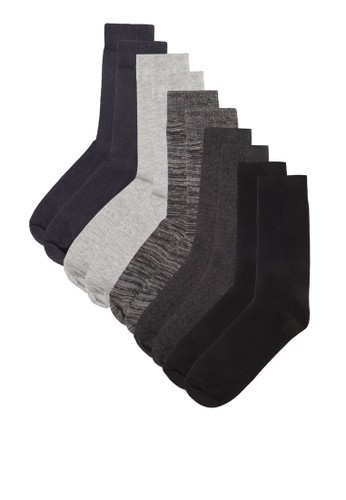 五zalora鞋子評價入素色暗紋襪子組合, 服飾, 服飾