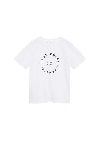 MANGO KIDS white Organic Printed Cotton T-Shirt 12788KA63514C1GS_1