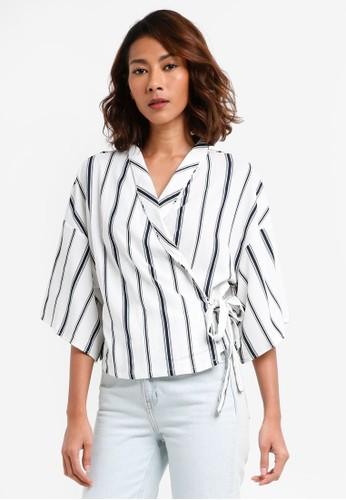 Cotton On white Kenzi Wrap Kimono Top ECDDBAAE4E869EGS_1