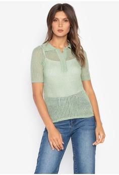 Spring Fling green Knitted Top With Collar A8029AA66D64D3GS 1 e7a1e83de