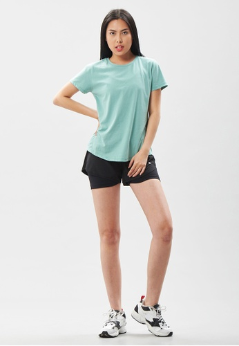 AVIVA green AVIVA Ophelia Authentic Short Sleeve Top 012B0AAF4130C0GS_1