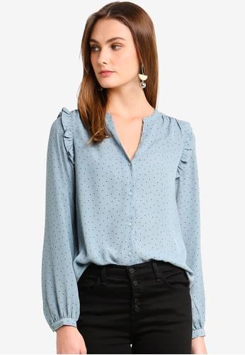 Vero Moda blue Venice Long Sleeve Shirt C6FA6AA669B1B2GS_1