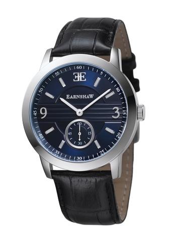 Thomas Earnshaw black Thomas Earnshaw GREENOCK ES-8022-03 Men's Black Genuine Leather Strap Watch CB453ACE9F5FB2GS_1