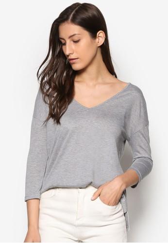 Basics V Neck Long Sleeves Top、 服飾、 T恤ZALORABasicsVNeckLongSleevesTop最新折價