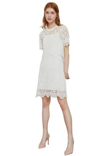 Hopeshow white 2 Piece Lace Mini Dress DB604AAFED0050GS_1