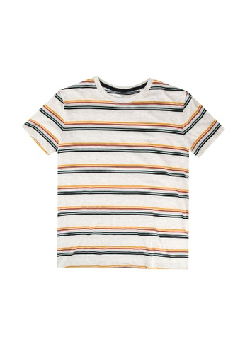 FOX Kids & Baby grey Striped Tee 86B69KAE043001GS_1