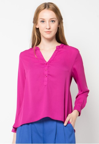 Raspberry purple Paraya Long Sleeve Blouse RA572AA61PTIID_1