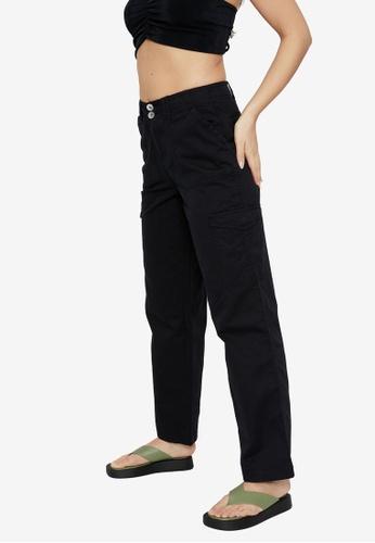 Supre black Kiara Mid Rise Cargo Pants DA983AA3B944E6GS_1