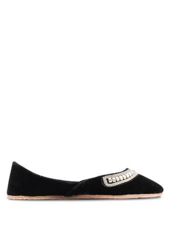 Pride black Ladies Leather Shoes PR075SH63XBWMY_1