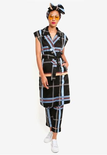 Syomirizwa Gupta multi Loretta Double Breasted Vest E8F5FAA700B97BGS_1