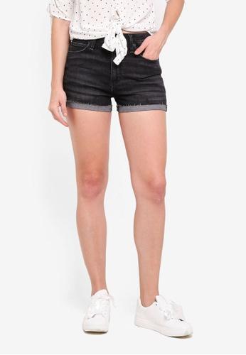 Abercrombie & Fitch black Washed Black Simone Stretch Shorts DE943AA7F0DEA8GS_1