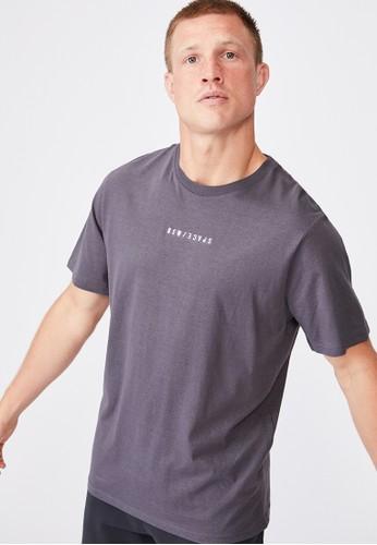 Cotton On blue Tbar Text T-Shirt 89174AAFD18F52GS_1