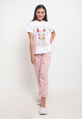 JOYFULIE pink Sisie Pajamas Set Pink 7B48FAA959B1EDGS_1