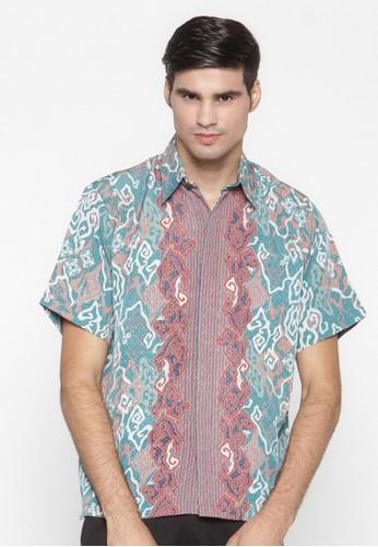 Waskito Hem Batik Semi Sutera - HB 10575 - Turquoise