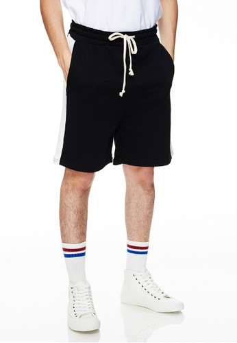 Life8 黑色 Casual Mixed Cotton Shorts-02494-Black B4A82AA5B95087GS_1