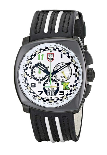 Luminox white Luminox Tony Kanaan White and Black Carbon Compound and Leather Watch DE5D6AC5F70861GS_1