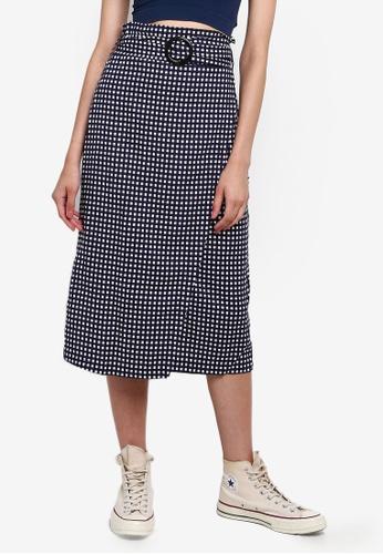 Cotton On 藍色 交叉造型裙 E048FAA9E8B702GS_1