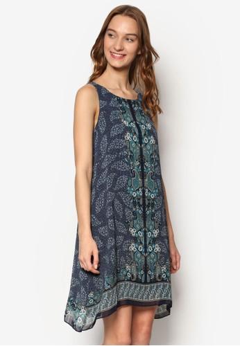 花紋飾無袖連身裙, 服飾, esprit outlet 家樂福洋裝