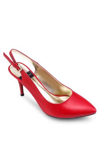 Elisabezalora鞋子評價th 尖頭繞踝高跟鞋, 女鞋, 鞋