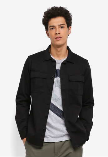 Jack & Jones black Walter Worker Shirt A6C99AA3839A31GS_1