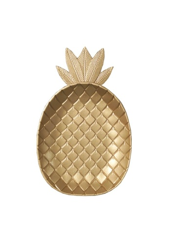 DILAS HOME Gold Pineapple Tray - Big 99724HL8631A14GS_1
