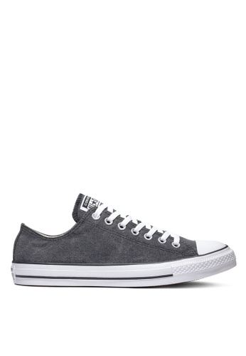 Converse black and white Chuck Taylor All Star Washed Ashore Ox Sneakers 97498SHF584C86GS_1