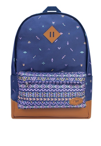 Ripples blue Arika Aztec Backpack 5B4FFAC6B83858GS_1