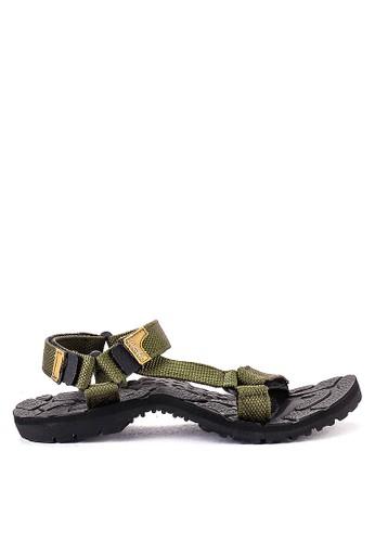 CARVIL multi and brown Carvil Sandal Sponge Gunung Man Santiago Black Olive E93CBSHA271A84GS_1